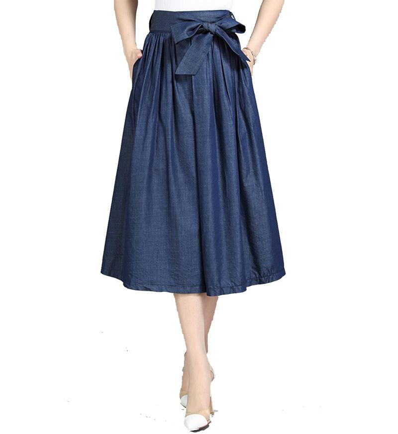 2019 女性のエレガントなジーンズロングスカート女性サスペンダースカート