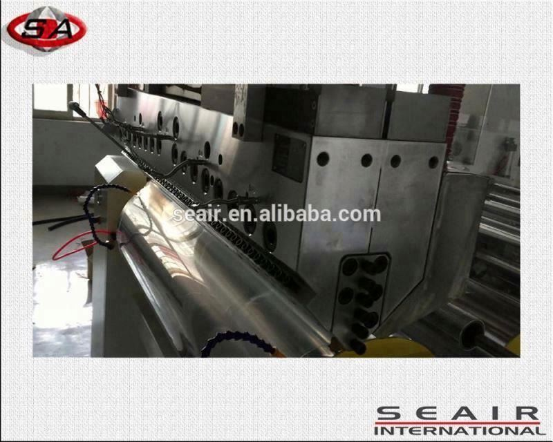 double screw snack food process film extruder, food packing machine,fruit packing machine