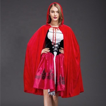 Cosplay Costume Halloween Decoration Adult Cosplay Dresses Up Little Red Riding Hood
