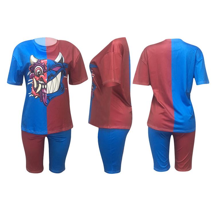 MD-2082201 Hot Style 2020 Dua Sepotong Set Pakaian Wanita Baju Musim Panas Fashion Pakaian 2 Sepotong Set Wanita
