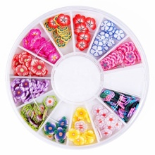 120x3D Mix blumen Nail art Dekorationen UV Acryl Rad