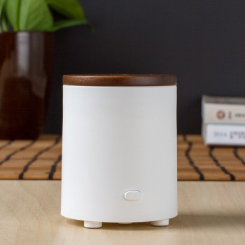 Hot selling USB aroma diffuser with wood cover, office waterless battery operated mini aroma diffuser with high quality GH2135