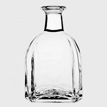 RSG glass bottle manufacturers Premium Crystal Glass Whiskey Decanter Vodka Spirits wine bottles 750 ml liquor glass bottle