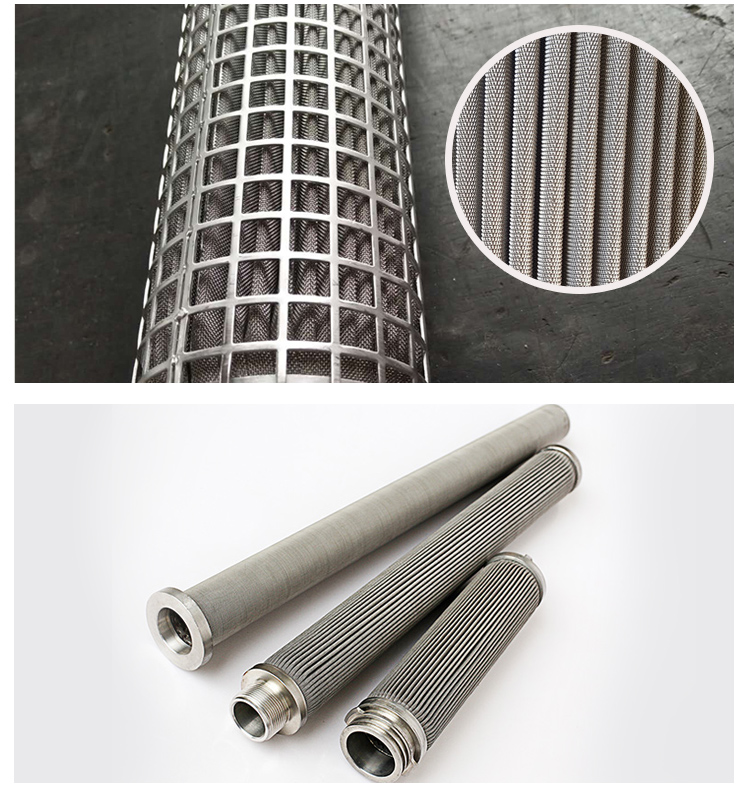 0,5 2 10 20 50 Microns Bronze Edelstahl 304/316L Gesinterte Poröse metall filter element für öl filter oder industrie system