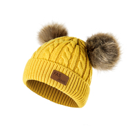 Baby Hat Boys Girls Winter Knitted Pompon Beanies Baby
