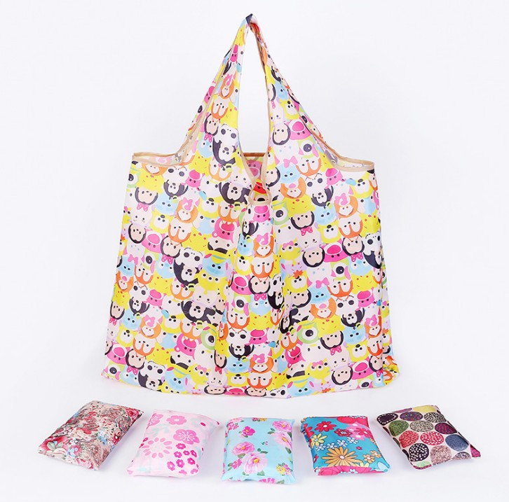 Animal Prints Pattern Type and Folding Style cartoon grocery shopping bags