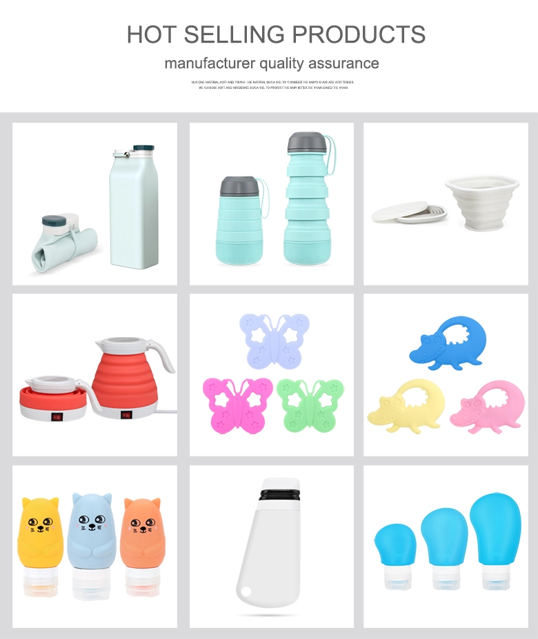 Portable Reusable Soft 100% Food Grade Silicone Collapsible Water Bottle