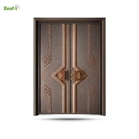 Get $1000 coupon luxury cast aluminum doors villa exterior entrance bullet proof doors front door designs
