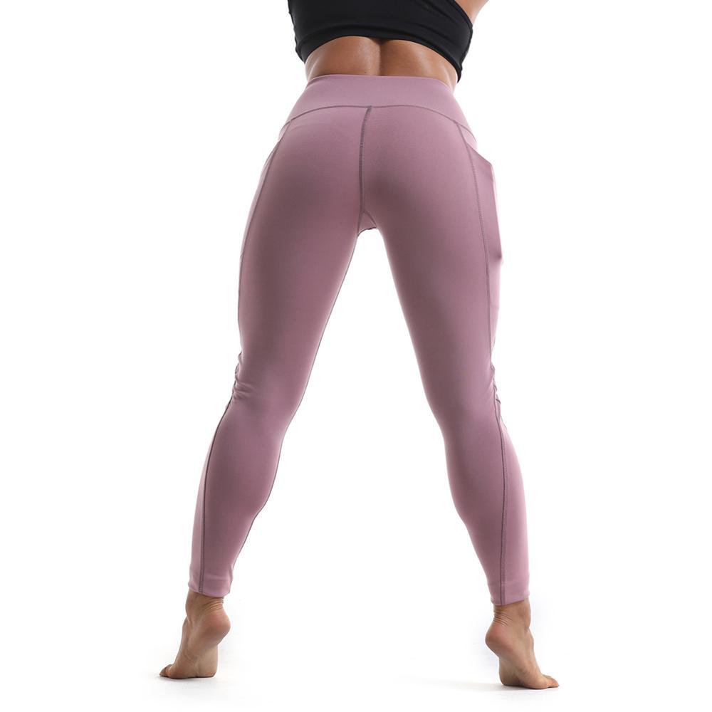 Custom Ladies High Waistband Yoga Pants Skinny Workout Legging Side Splicing Yoga Capri Leggings