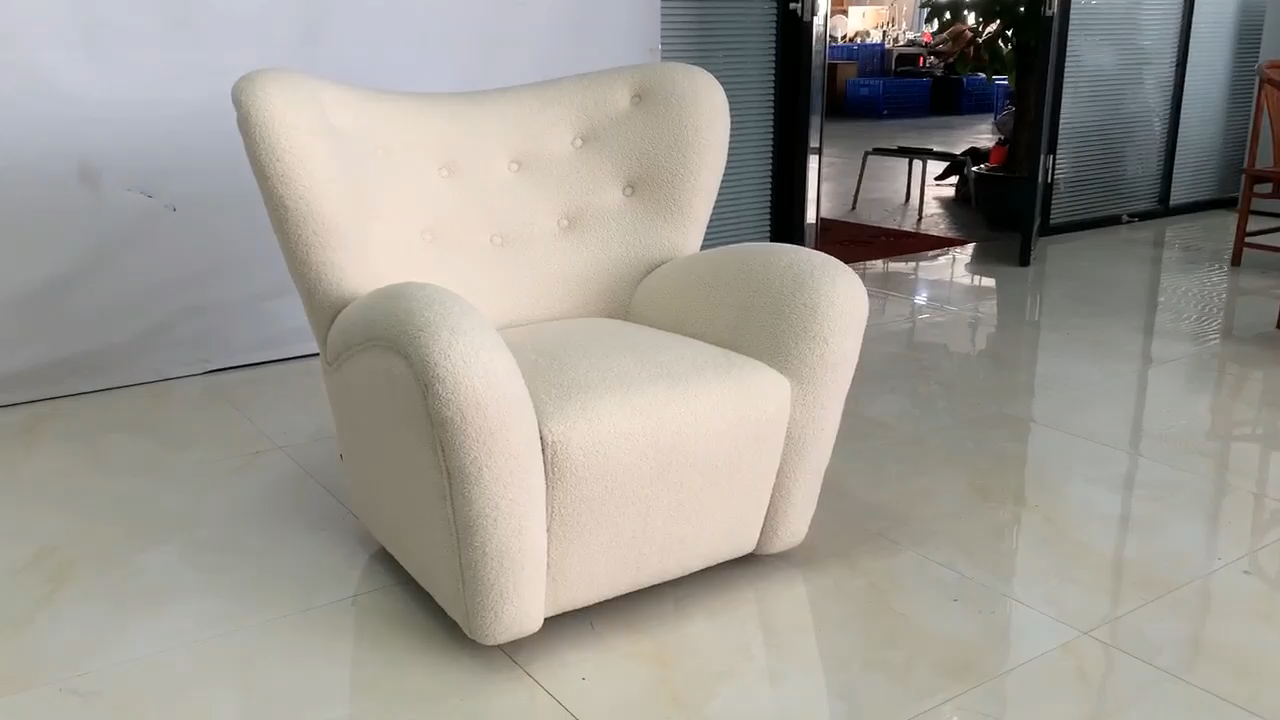 Estilo europeo de la sala de estar de lujo una plazas sofá Silla de tela Silla de acento moderno