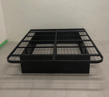 Hotel Single Bed Mattress Metal Foundation/Folding Bed Frame With Wheels