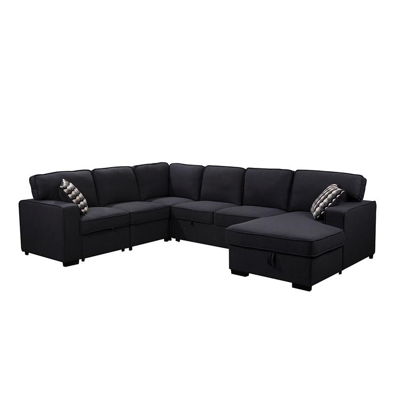 Modern tasarım U şekli köşe koltuk takımı oturma odası için kumaş kanepe kesit toptan