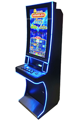 "Hot selling 32"" Curved screen Magic lamp video slot machine gambling game machine for sale"
