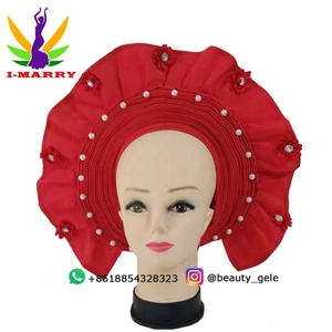 Auto gele ready to wear headtie african sego gele Aso-oke wholesale price made in china