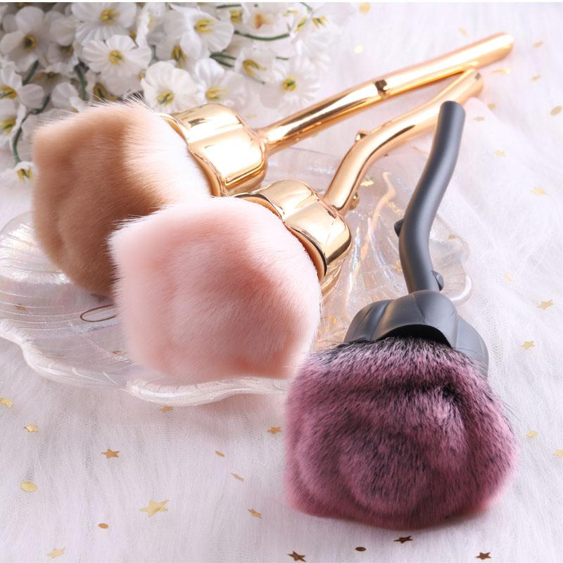 TSZS wholesale New 2020 nail art tool brush Beauty new produce cleaning dust Rose Flower nail brush