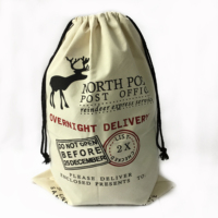 Promotion Usage Cotton Drawstring Bag Cheap Santa Sacks