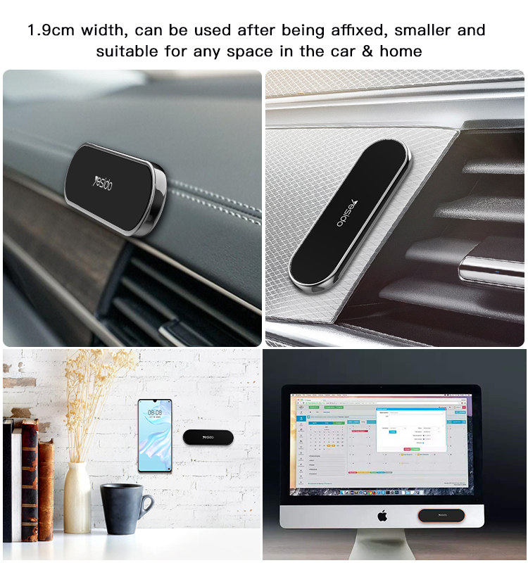 New Upgrade Cable Manager Mobile Phone Mount Bracket Magnetic Car Wall Cell Phone Holder For Office Home