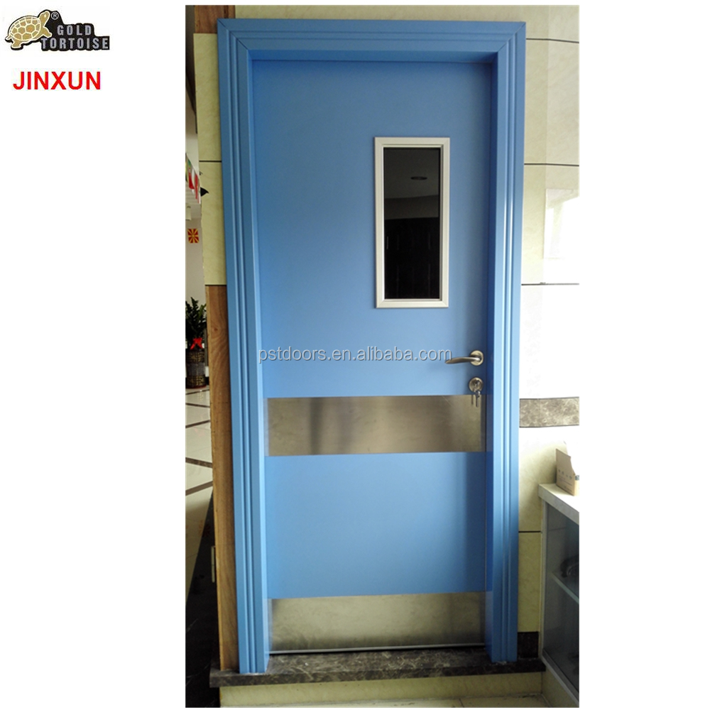 Flush Door for hospital and classroom, office room door with glass