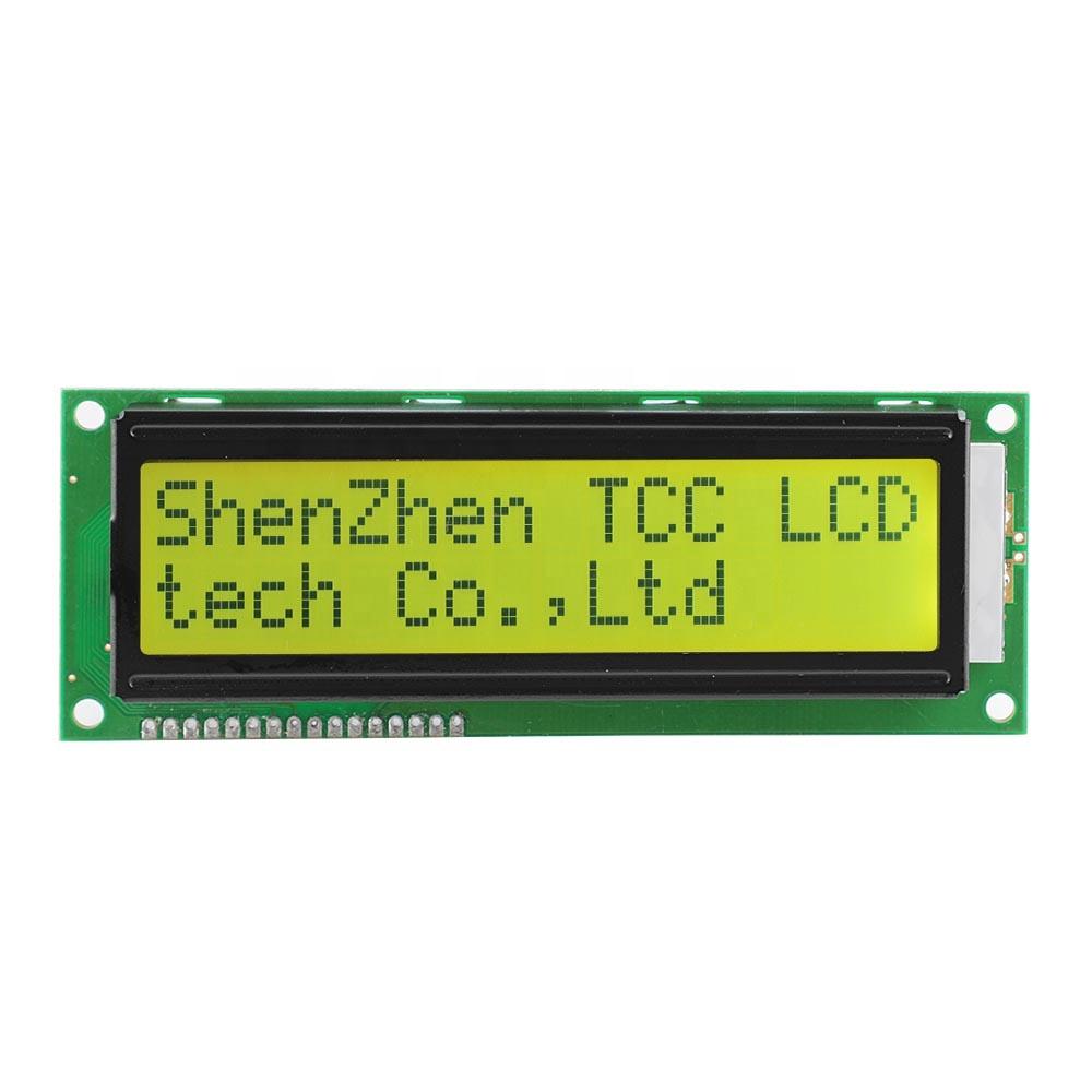 Shenzhen fábrica 16x2 caráter matricial módulo display lcd verde-Amarelo