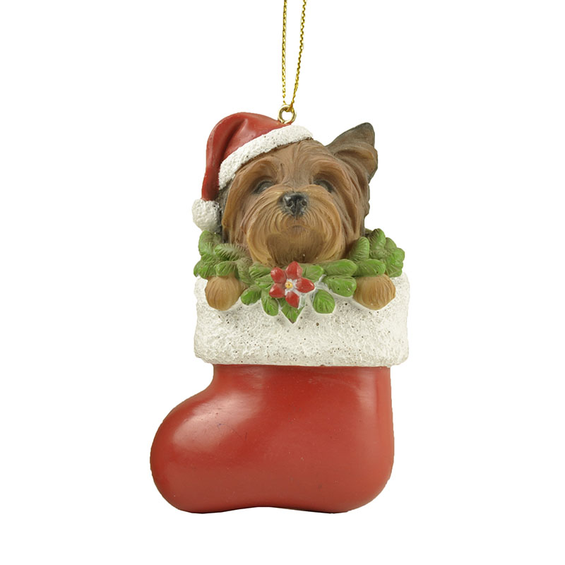 Wholesale High Quality shih tzu dog in christmas stockings ornament