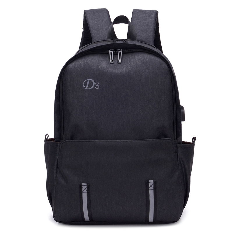 Osgoodway2 Costom Stylish Durable Oxford USB Charging Leisure Travel Laptop Backpack Bags for Men