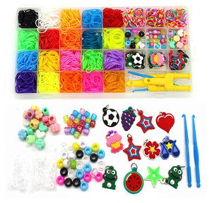 23 Assorted Colors Rainbow Rubber Bands Refill Kit-Assorted Colors Loom Bands- Loom Bands Large Storage Container