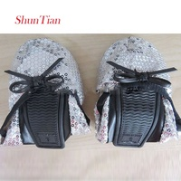 2019 Hot Sale Wedding Party Sequined Cloth Foldable Flat Ballet Slippers