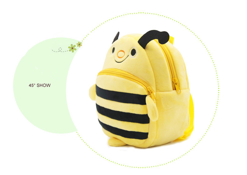 mochilas Cute Cartoon Baby Toy School Bag Animal Shape Mini Plush Backpack Kids Outdoor Travel Pack Bag New Student Kindergarten Bags