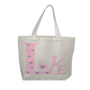 Reusable women grocery shopping foldable canvas cotton eco friendly tote bag