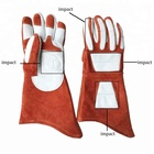 Cow Split Leather Flame Retardant Fire Protection Safety Gloves welding gloves