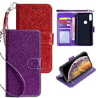 Glitter Bling Wallet Leather Case with Card Slot For HTC U19e