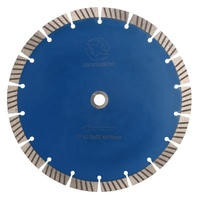 Smooth Cutting 250mm Segmented Diamond Saw Blade Concrete Cutting Disc For Marble Stone