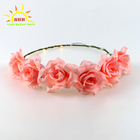 high quality head wreaths Flashing LED Hairbands LED Flower Crown Headband Wedding Party decoration Great Mother's Day Gifts
