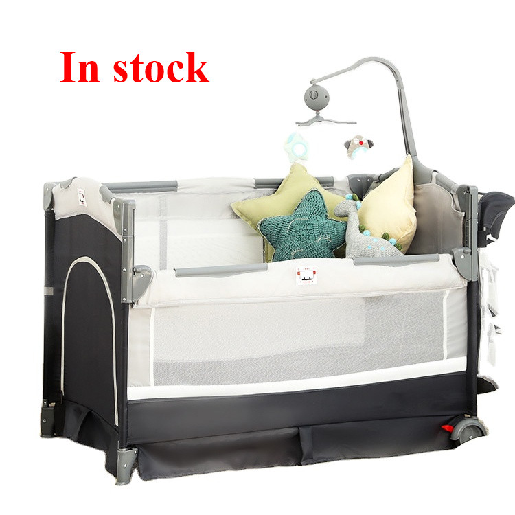 Wholesale Trend Nursery Center Kid Bedside Travel Cot Crib Baby Bed Play Portable Baby Playard