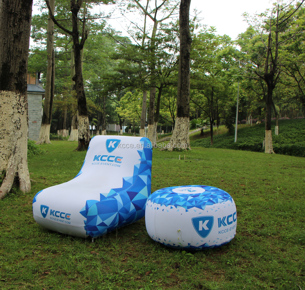 Hot Selling High Quality OEM Accept TPU material outdoor adventure display furniture inflatable air sofa//