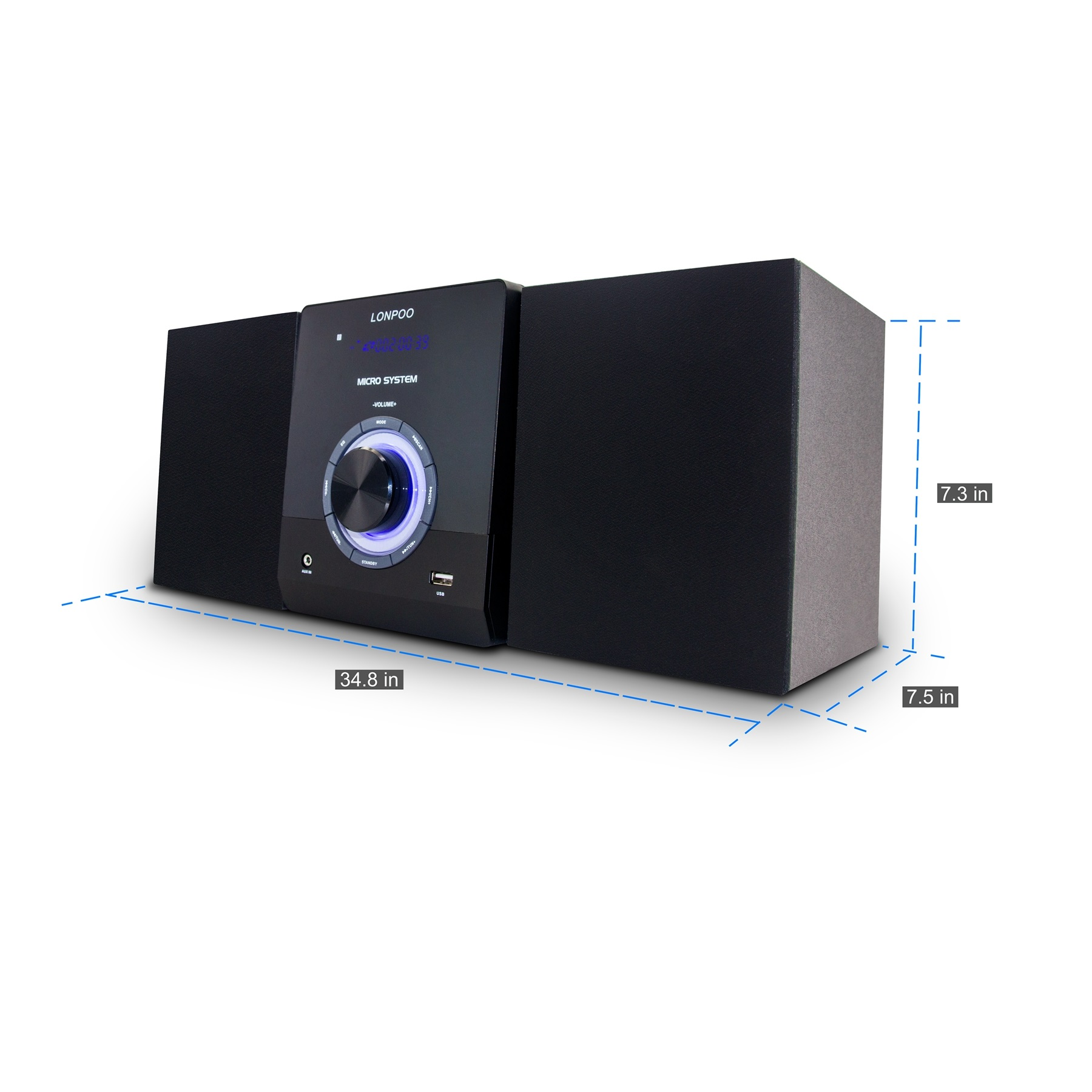 LONPOO New design dvd cd compact micro hifi home theater system