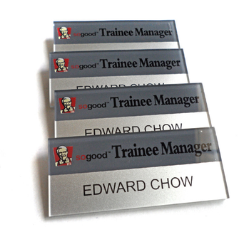 cheapest good quality custom logo acrylic plastic nameplate/name tags