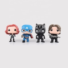 <span class=keywords><strong>FUNKO</strong></span> <span class=keywords><strong>POP</strong></span> Meraviglie Super Eroe IronMan Figure Giocattoli Steve Rogers 3 Guerra Civile WINTER SOLDIER Black Widow black Panther Modello REGALO