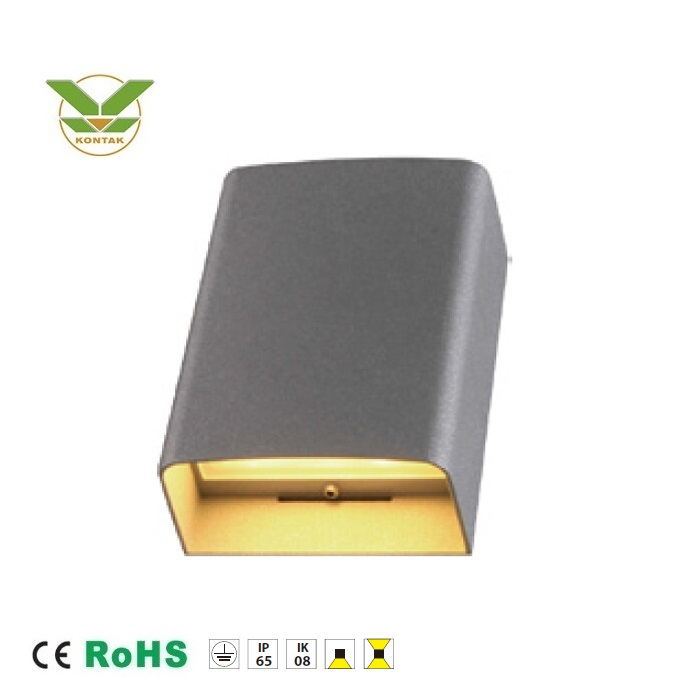 7W warm white led light ip65 outdoor modern exterior lamp industrial material sconce wall light