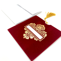 Red Gold Laser Cut Birthday Invitation Card / Make your own design Wedding Invitation Card