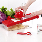 Best Use 7-in-1 Red Kitchen Fruit and Vegetable Slicing and Shredder Big Stable Box Grater