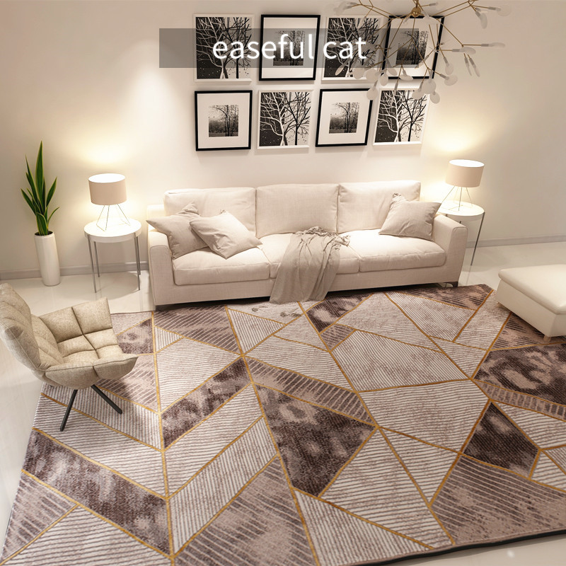 2019 Gold Series 200*290m European and American Luxury Home Rug Bedroom Hotel Finished Modern Carpet for Living Room