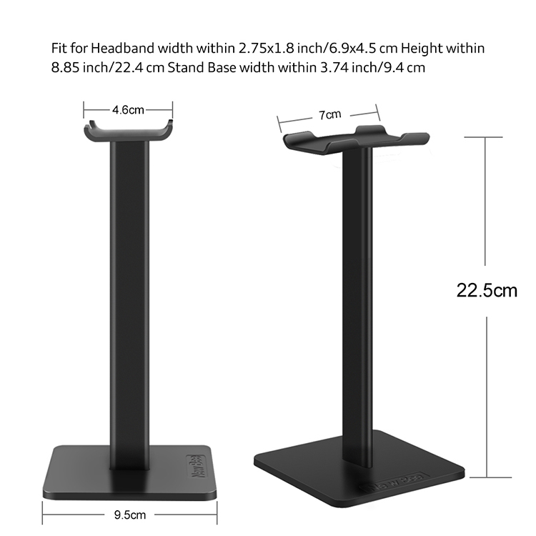 Portable Universal Headphone Pemegang/Headset Stand / Headphone Meja Stand (Hitam)