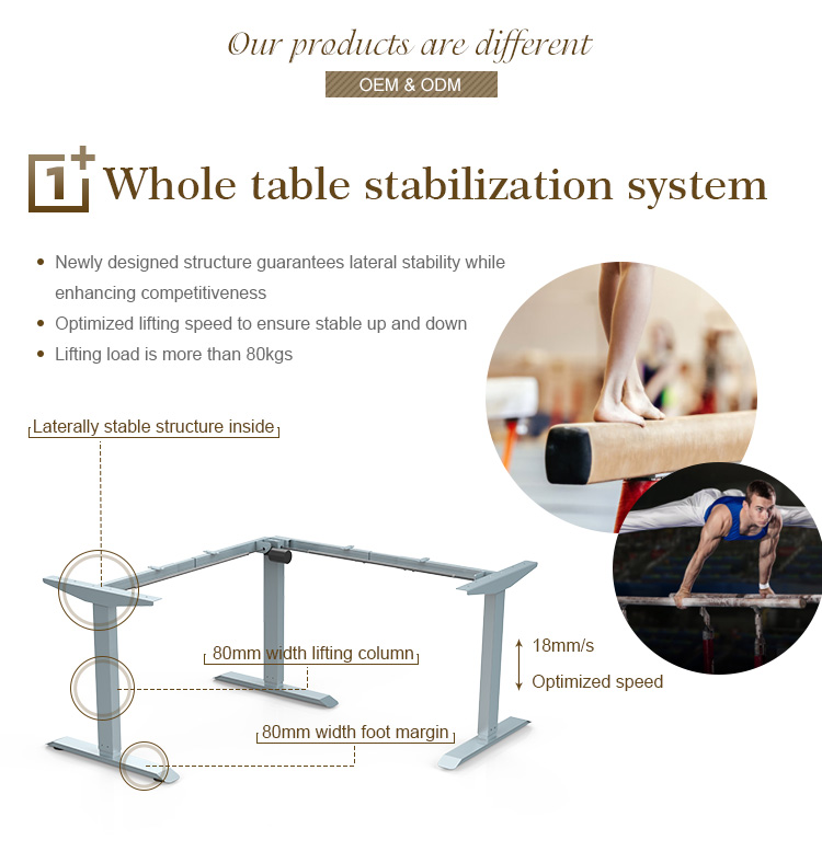 Zhiding stand up podium desk units,smart desk telescoping adjustable table