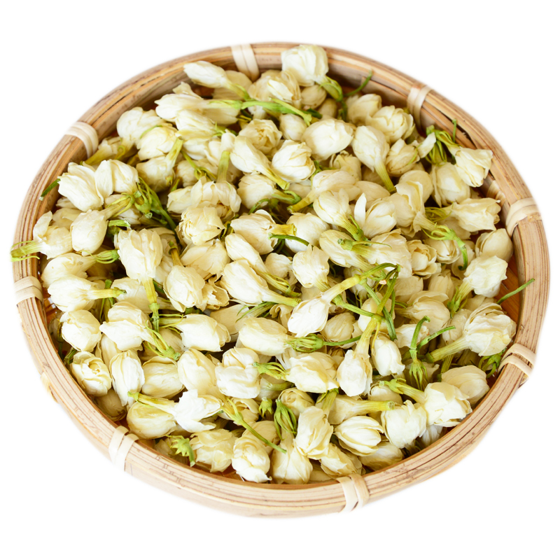 Pure natural white jasmine in bloom dried for fresh Flavored refined chinese tea - 4uTea | 4uTea.com
