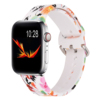 White flower silicone watch band for apple watch