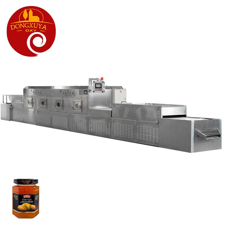 Automatic Drinks Milk Glass Bottle Microwave drying sterilizing machine
