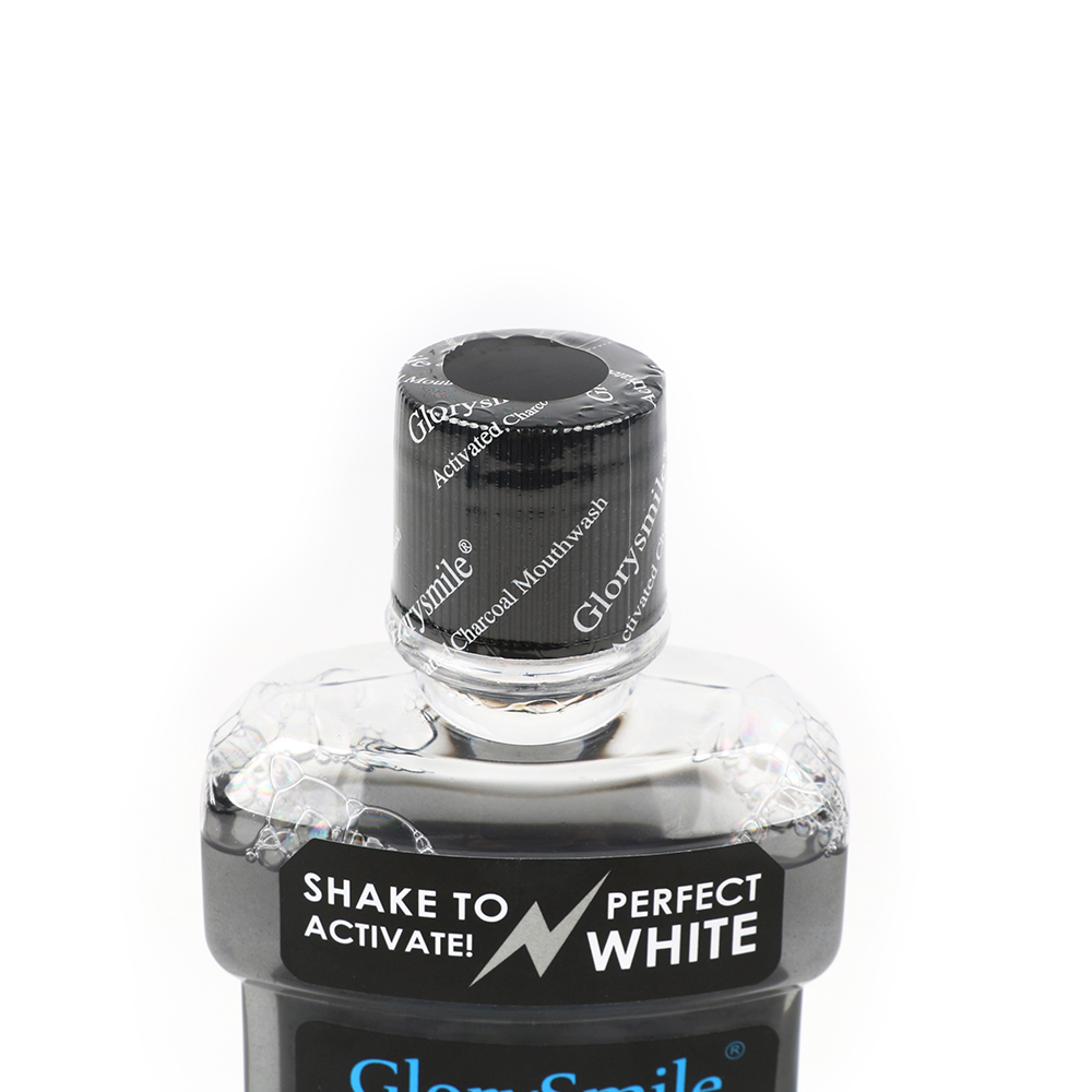 GlorySmile Activated Charcoal Mouthwash Dentist Formulated Alcohol Free Clean & Fresh Mouthwash