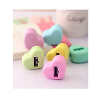 funny colorized heart-shaped sharpener made by eraser
