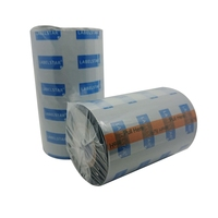 Zebra Id Card Printer110mmx300m Wax Resin Ribbon For Barcode Machine
